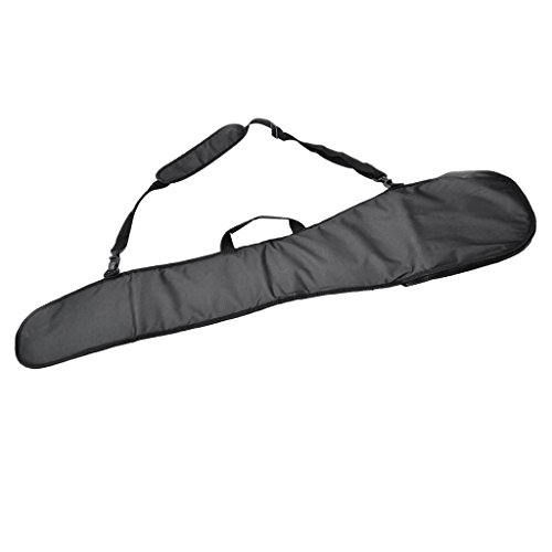 Fenteer Deluxe Padded SUP Kayak Boat Canoe Paddle Storage Bag Pouch Cover Split Kayak Paddle Bag with Carry Handle & Shoulder Strap - Black, 130x30x1.5cm (Deluxe Kayak Cover)