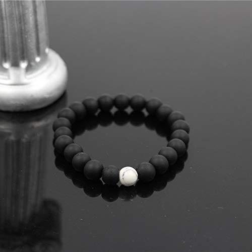 Women Men Bracelets 8mm Lava Rock Stone Bead Gold Color Charm Braiding Weave Adjustable Bracelet for Women - Geometric Weave Bracelet