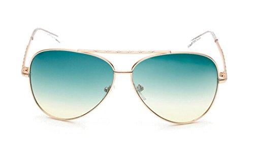 GAMT Summer Sea Film Gradient Shades Dazzle Colour Frog Mirror Aviator Sunglasses - Sunglasses Dragon Cheap