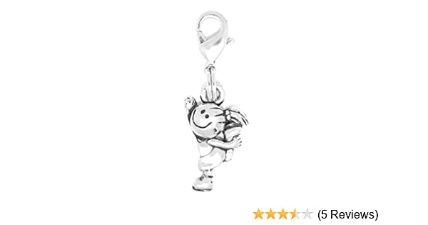 Clayvision Snowman Christmas Charm Zipper Pull for bracelets /& decoration