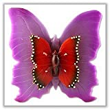 "Double Butterfly Floating Pool Candles - 7"" long - Purple - (Each)"