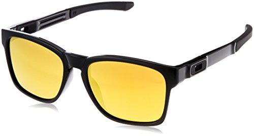 Oakley Men's Catalyst OO9272-04 Non-Polarized Iridium Square Sunglasses, Polished Black, 56 - Oakley Catalyst