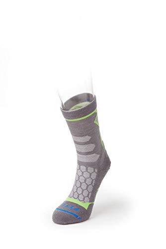 FITS Light Hiker Mini-Crew Socks, Titanium, Large