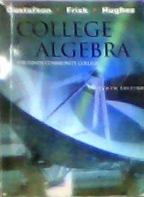 College Algebra for Hinds Community College Mississippi Tenth Edition - Gustafson - Frisk - Hughes - 2009 Cengage Learni