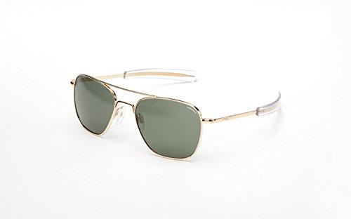 Randolph Engineering Aviator Gold Plated Bayonet 55mm AGX Sunglasses