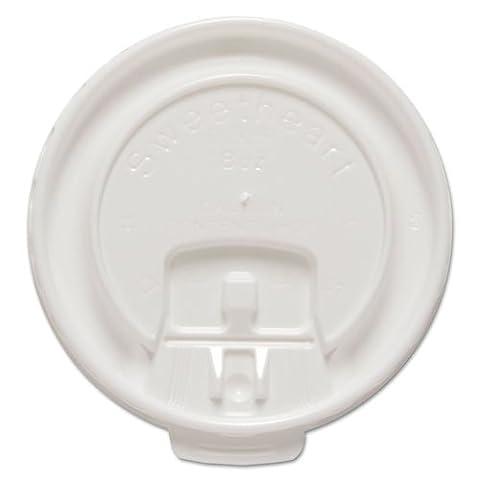 SOLO Cup Company - Liftback & Lock Tab Cup Lids for Foam Cups, Fits 8 oz Trophy Cups, WE, 100/PK DLX8RPK (DMi - Fits 8 Ounce Cups