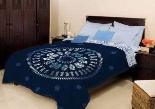 Bombay Dyeing Double Bed Winter Blanket- Blue