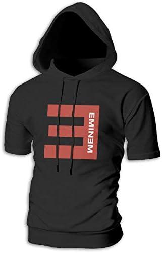 Tシャツ シャツ ティーシャツ スウェットシャツ パーカー ストレッチ メンズ 半袖 フード付き エミネム スポーツtシャツ 吸汗速乾 トレーニング ジムtシャツ 通気性 黒