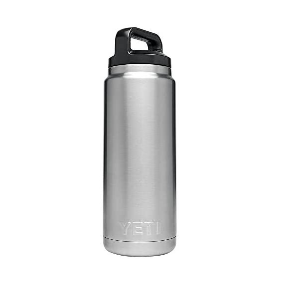 YETI Rambler 26oz Vacuum Insulated Stainless Steel Bottle with Cap 1 DuraCoat Color that is built to last - no fading, peeling, or cracking here Leakproof TripleHaul Cap protects your truck cab or day pack from spills; complete with 3-finger grip This Double-Wall Vacuum Insulated water bottle has the power to keep your water cold (or coffee hot) until the last sip
