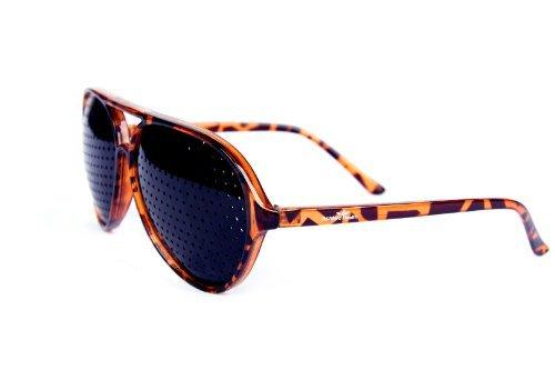 sténopé lunettes améliore exercé vue soin Marron la Rouge de Unisex yeux FreshGadgetz lunettes AWqPRU0x