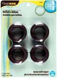 Dritz Curtain Grommets 1'' Inner Diameter Plastic 8/Pkg-Bronze