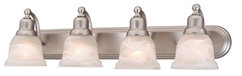 durable modeling Vaxcel LS-VLD104BN Lasalle 4 Light Vanity Light, Brushed Nickel Finish