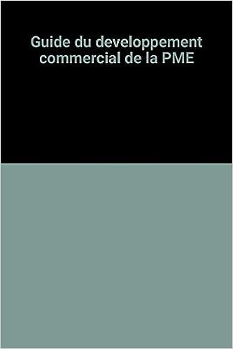 En ligne Guide du developpement commercial de la PME pdf, epub ebook