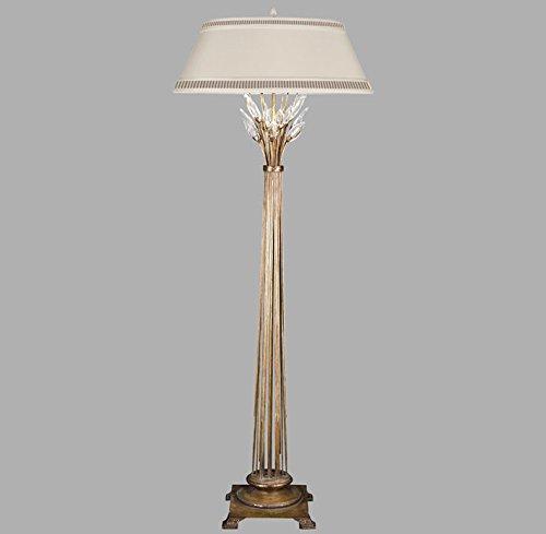 Crystal Gold Laurel Chandelier (Fine Art Lamps 772520, Crystal Laurel Dimming Crystal Floor Lamp, 1 Light, 150 Total Watts, Gold)
