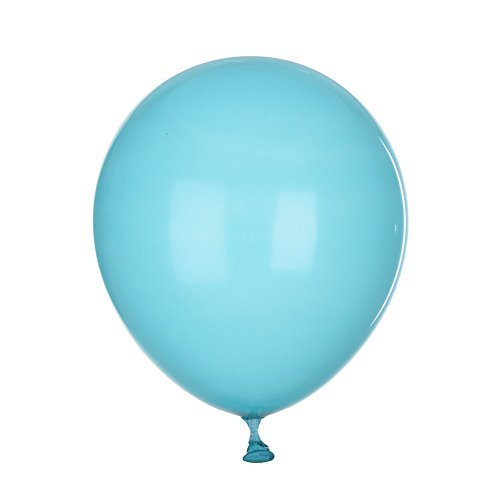 Newest 100 PCS Decorative Latex Ballute Balloons for Birthday Wedding Marriage Atmosphere Decorations - Tiffany And Co Color