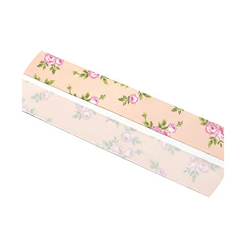 - 25mm Printed Satin Christmas Ribbons Bow Craft DIY Trim Sewing Handmade Gift Packaging Materials Accessories,C3 Pink 5y