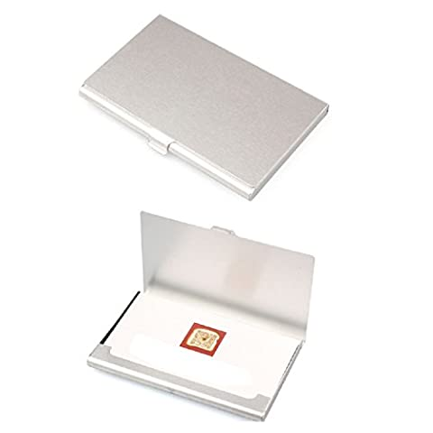 LUNIWEI Creative Aluminum Holder Metal Box Cover Credit Business Card Wallet