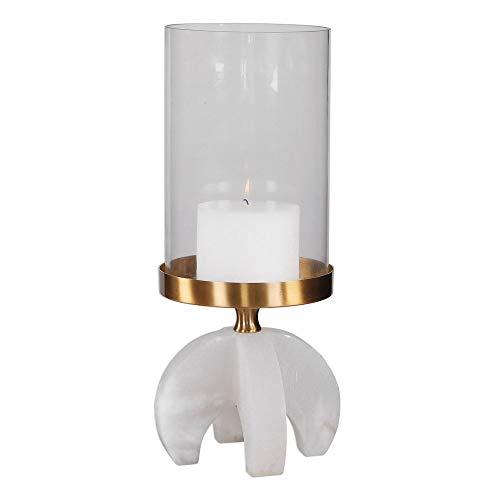 Lamp Nickel Table David (Uttermost Large Alabaster Candleholder)