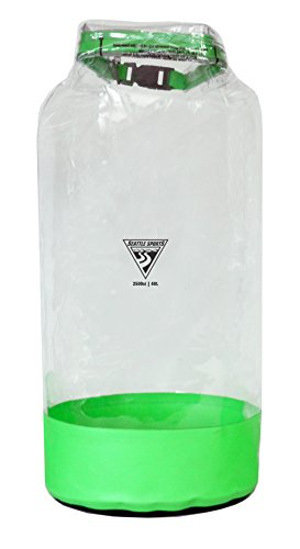 (Seattle Sports Glacier Clear Heavy Duty Waterproof Dry Bag - USA Made (LG 40L, Lime))