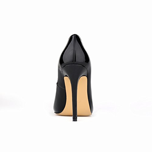 CFP YSE-302-1QP Womens Business Lightweight Wedding Formal Occasions Classic Office Stiletto Fair Ladies Slim High Heel Charm Pointed Toe Shallow Mouth Pump Sweet Various Colors Black eaNqB