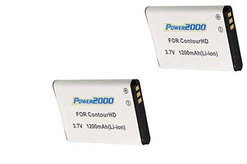 Two 2 Batteries for VholdR Contour+ Contour+2 Plus HD Helmet Camera #1500#1700 ()
