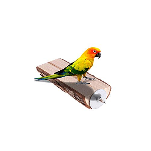 Hamiledyi Wood Perch Bird Platform, Bird Cage Perchs Sleeping Stand Playground Accessories for Budgie Conure Parrot…