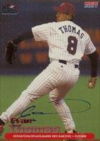 Evan Thomas Scranton/W-B Red Barons - Phillies Affiliate 2001 Choice Autographed Card - Minor League Card. This item comes with a certificate of authenticity from Autograph-Sports. Autographed