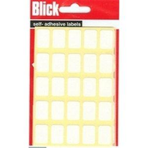 Blick Label Bag 12x18mm White Pk175 ()
