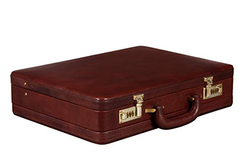 BRAND LEATHER 25 L Genuine Leather Office Briefcase (Brown)