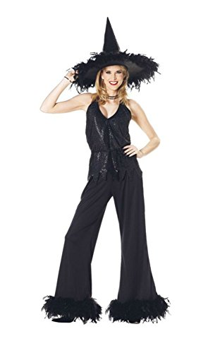 [Papermagic Womens Sexy Witch Glamour Sorceress Theme Fancy Halloween Costume, One Size (8-14)] (Glamour Witch)