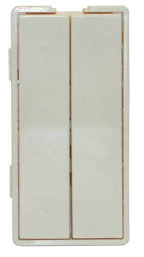 Simply Automated ZS12-A Custom Series Dual Tall Faceplate, Almond (Dual Faceplates)
