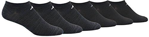 Adidas Paquete de 6 Calcetines para Hombre, Grey Space Dye/White Black/Onix, X-Large (Size 12-16)