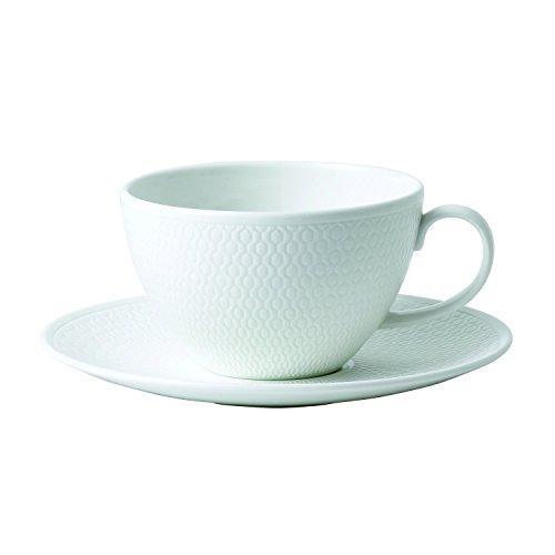 Wedgwood Gio Teacup & Saucer Set, 2 Piece, White