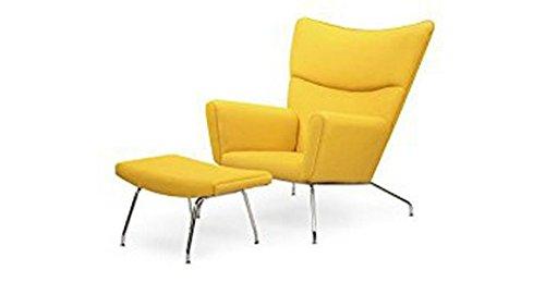 Emorden Furniture Hans JWegner - Silla de ala y otomano ...