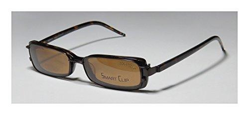 Smart Clip 919 MensWomens Optical Fancy Designer Full-rim Flexible Hinges Sunglass Lens Clip-Ons EyeglassesEyeglass Frame (50-16-135 Brown  Tortoise)