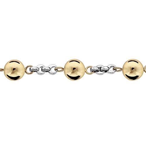 So Chic Bijoux © Bracelet Femme Longueur Réglable: 19 à 22 cm Chaîne Boules Dorées Acier Inoxydable