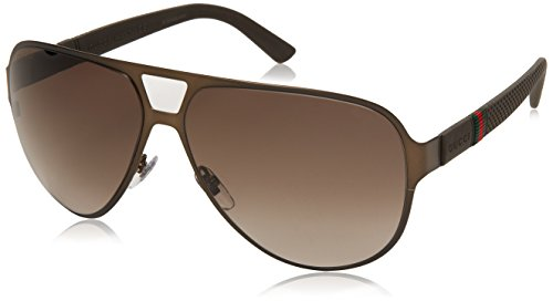 Gucci 2252/S Sunglasses Brushed Brown / Brown - Gucci Sunglasses 135