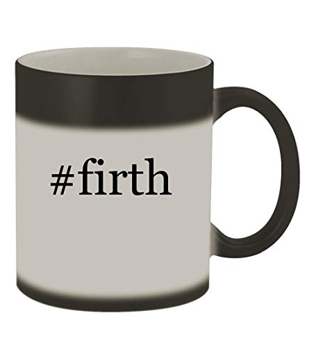 #firth - 11oz Color Changing Hashtag Sturdy Ceramic Coffee Cup Mug, Matte Black