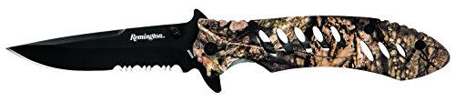 Remington Cutlery R20004 F.A.S.T. Series Frame Lock Large Knife with Pocket Clip, Mossy Oak Break-up Country Camo