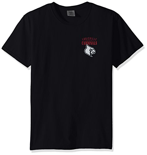 NCAA Louisville Cardinals Adult Unisex NCAA Limited Edition Comfort Color Short sleeve T-Shirt,Large,Black