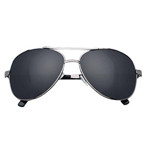 Aviador de Para Negro Polarizadas Proteccion Hombre Mujer UV Drive Lentes Gafas Sunglasses LINNUO Eyeglasses Metálico Sol X1xqgaww