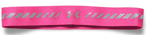 (Under Armour Women's Reflective Headband, Rebel Pink (652)/Reflective, One Size)