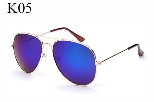 de femmes lunettes Blue New de cadre pilote Frame pilote Aviator OMAS Golden soleil Mercury lunettes hommes lunettes soleil Fashion lunettes dames Vintage XRwx0q