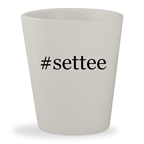 Leather Skyline Bed (#settee - White Hashtag Ceramic 1.5oz Shot Glass)