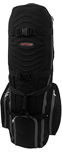 CaddyDaddy Golf Phoenix Golf Travel Bag, Black