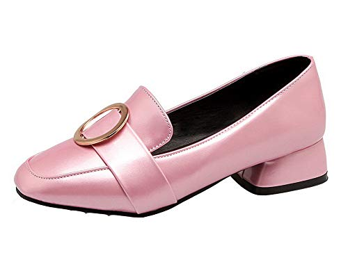 Tire Bas Chaussures Femme Légeres Tsfdh004324 Unie Rose Aalardom Couleur Talon À xAdt0nwqY