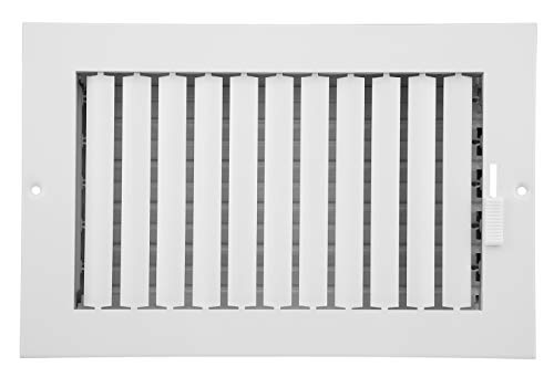 (Accord ABSWWHA106 Sidewall/Ceiling Register with 1-Way Adjustable Design, 10-Inch x 6-Inch(Duct Opening Measurements), White)