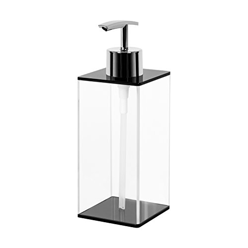 Addo Top Quality Soap Dispenser, Impact Resistant Clear Acrylic Liquid Soap Dispenser, Countertop Soap Dispenser Bottle With Pump  For Kitchen/Bathroom - 540 ml/ 18 ()