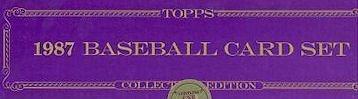 1987 Topps Factory Baseball set (Tiffany version)