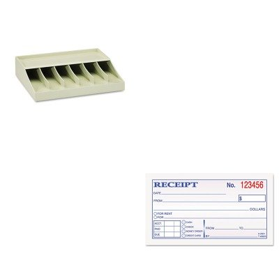 KITMMF210470089TOP46820 - Value Kit - Tops Money and Rent Receipt Books (TOP46820) and MMF Bill Strap Rack (MMF210470089)